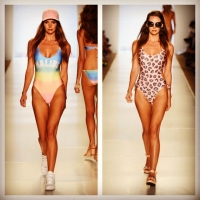 Autumn Holley Walks in Miami Swim Week