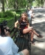After her manicure, she headed over to Central Park to film her behind the scenes video.  It was a beautiful day in NYC.