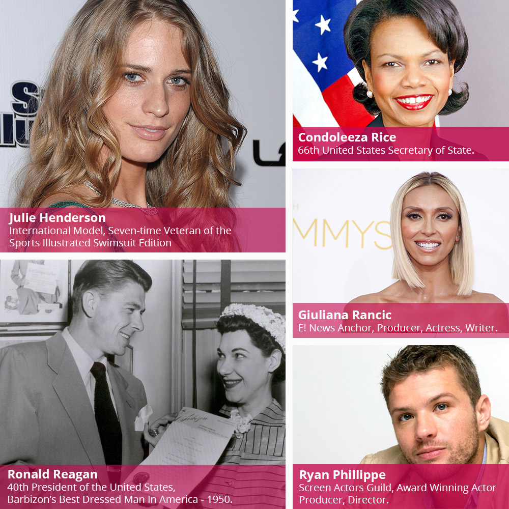 Barbizon Modeling - Our notable alumni