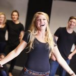 Barbizon Modeling Students Taking Singing Class At Drama College